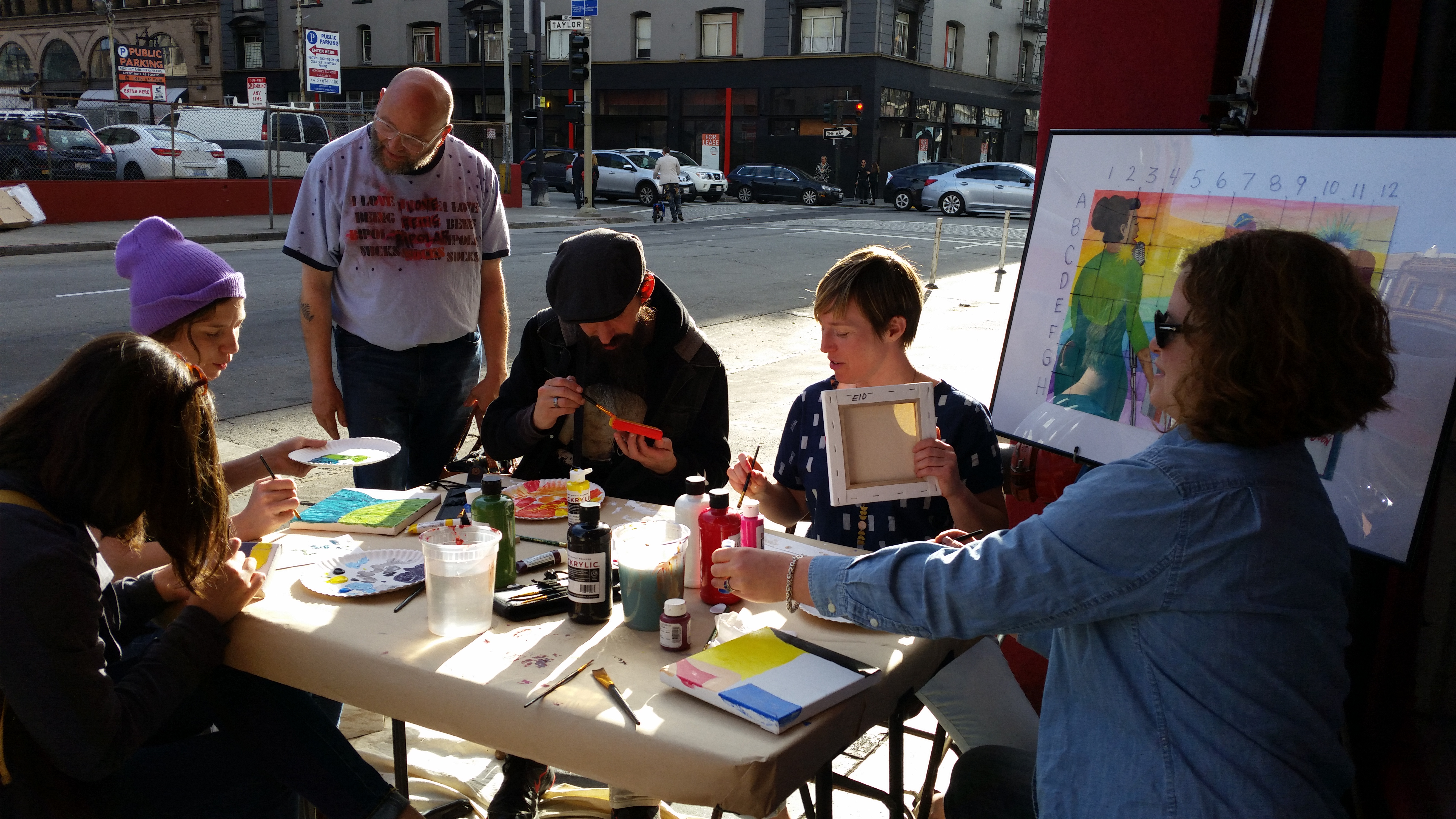 Community Visual Art Block Fest participants