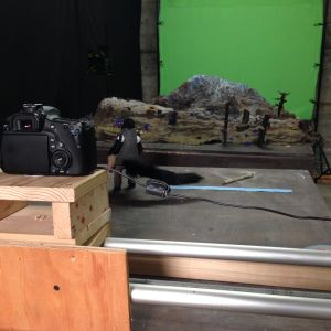 A picture of the stop motion set